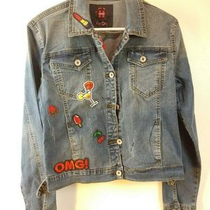 NEW Havana Embroidered Blue Denim JEAN JACKET